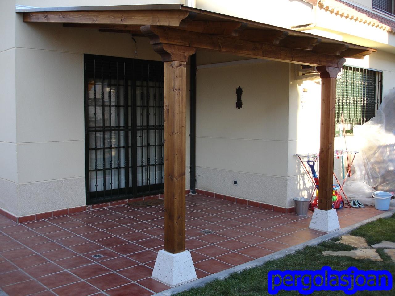 Porche de madera 3000x2500 pergomob - Como hacer un porche de madera ...