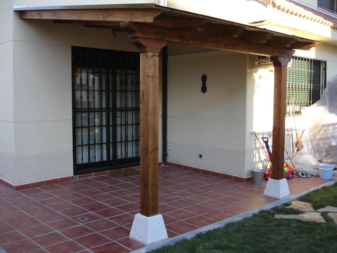 Porche de madera 3500x3500 pergomob - Hacer un porche ...