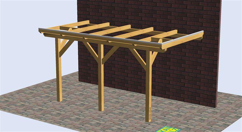 Porche de madera 4500x2500 pergomob - Madera para porches ...