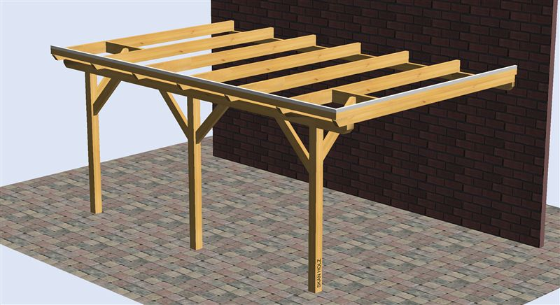 Pergola de madera 5000x3500 pergomob - Hacer pergola madera ...