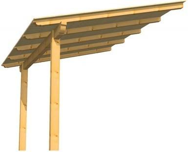 Pergola de madera de 3 5x3 5m en kit barata madrid - Pergolas de madera en kit ...