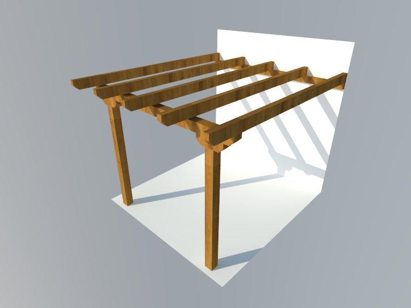 kit pergola adosada plana 14x14 pergomob. Black Bedroom Furniture Sets. Home Design Ideas