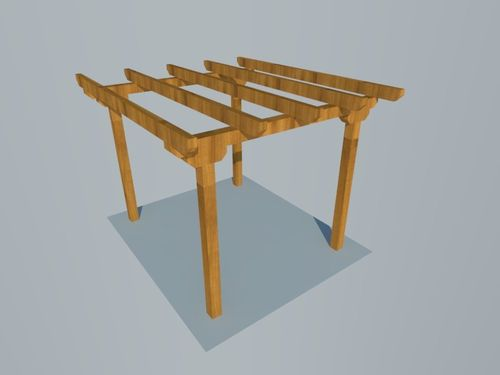 Pergola independiende plana 3x3,5m
