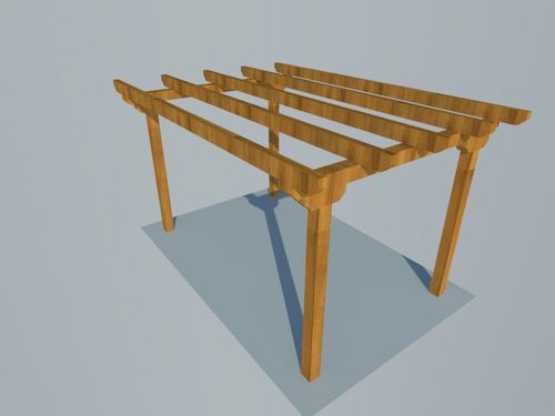 Pergola independiende plana 3x4,5m