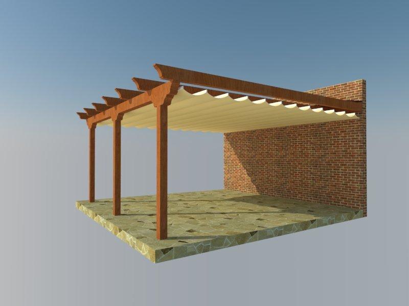 Estructuras en kit pergomob - Pergolas de madera en kit ...